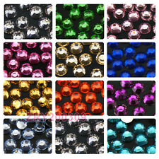 1000Pcs 2mm Acrylic Crystal  Rhinestones Flat Back 20colors-1 R0176