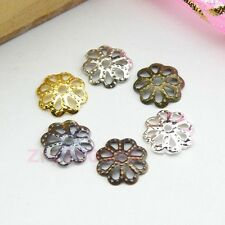 Hollow Flower Bead Caps 7mm Or 9mm Silver/Gold/Copper/Bronze/Black etc. R0117