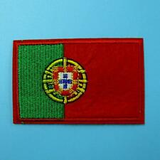 Portugal Flag Iron on Sew Patch Applique Badge Embroidered Motif Biker Motor Car