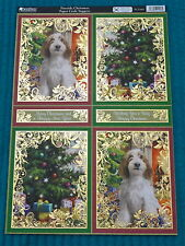 Kanban Christmas Toppers FOILED &/Or GLITTERED Die cut A4 Topper Sheet - Various
