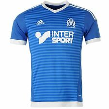 Adidas Olympique de Marseille 3rd Jersey 2015 2016 Mens Blue/White Shirt Top