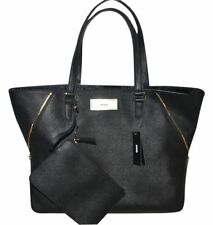 NWT $298  DKNY Shiny Saffiano Leather Premium Designer Tote Shoulderbag Handbag