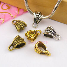 25Pc Tibetan Silver,Gold,Bronze Charm Pendant Bail Connector Fit Bracelet M1247