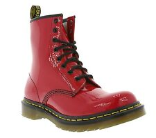 NEW Dr. Martens 1460W Shoes 8-hole Boots Winter Leisure Red Leather Women