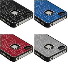 Brushed Metal Aluminum Texture Hard Case Cover Accessory for iPhone 4 4G 4S