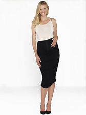 NEW Angel Maternity Side ruching high waist maternity skirt in black - 301B