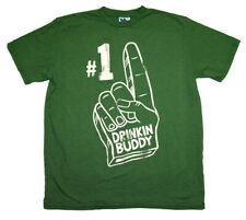 Number One Drinking Buddy Junk Food Vintage Style Soft Adult T-Shirt Tee