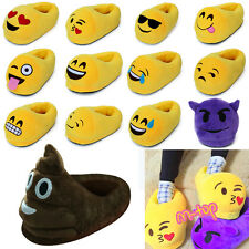 3D Emoji Unisex Slippers Warm Home Indoor Slippers Men Women Plush Stuffed Shoes