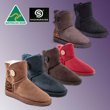 HAND-MADE Australia Shearers UGG Mini Single Button Premium Sheepskin Boots