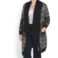 Tahari Women's Winter Fall  heavy Sweater coat Cardigan Jacket new plus 1X 2X 3X