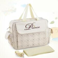 Baby Nappy Diaper Bag Mummy Shoulder Bags Handbag With Changing Pad Liner C7M7