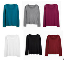 EX Next Ladies Various Colours Long Sleeve T-Shirt Top Size 6 12 14 16 18 24 NEW