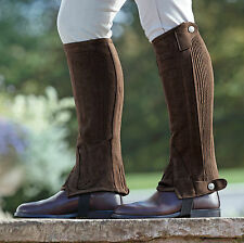 SHIRES ADULTS AMARA HALF CHAPS 9623 riding black/brown standard & short leg