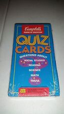 Vintage Golden Books Campbell's Soup Power of Education Kids Quiz Cards Sealed