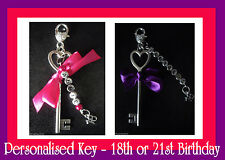 Personalised 18th Key or 21st Key 18th/21st Birthday Present - ADD NAME FREE