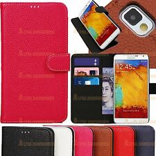 Leather Wallet Flip Stand Case Cover Holder 4 Samsung Galaxy Note 3 N9000 N9005