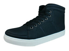 Galaxy N921 Mens Casual Lace Up Hi Top Trainers / Ankle Boots - Black