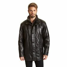 Excelled Men's Leather Car Coat (Big Sizes)