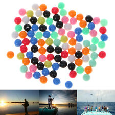 100X Lot Round Rig Beads Sea Fishing Lure Fishing Floating Float Tackles 6mm 8mm