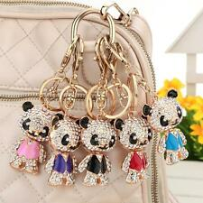 Cute Bear Keyring Rhinestone Charm Pendant Purse Bag Key Ring Chain Keychain