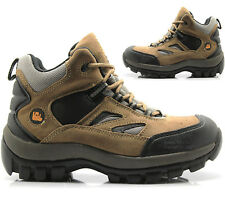 MENS WALKLANDER HIKING LEATHER WORK STEEL TOE CAP SAFETY SHOES BOOTS TRAINERS