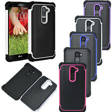 Impact Hybrid Rugged Hard Rubber Case Armor Cover For LG Optimus G2 D802/801