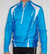 Cycling MTB Bike Jersey long sleeve Sport  Blue & white Men Unisex