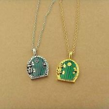 New Fashion Retro Green Door Locket Pendant Chain Necklace Movie Jewelry Gift J