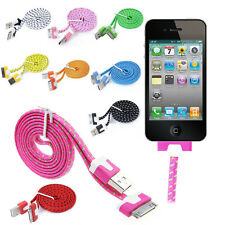 Strong Braided USB Data Sync Charger Cable Cord For iPhone 4 4S 3G 3GS iPad iPod