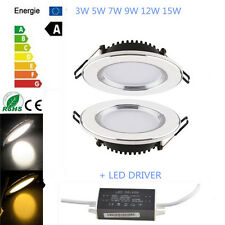 Cree/Epistar LED Down Lights Bulb 3/5/7/9/12/15 W Recessed Ceiling Lamp + Driver