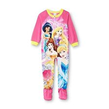 Disney Princess Rapunzel Jasmine Belle Footed Sleeper Pajama Girl Size 3T