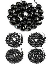 AAA 64 Faceted Black Onyx Agate Natural Gemstone Round Beads 15''