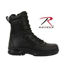 "5063 Rothco 8"" Forced Entry Tactical Boot With Side Zipper & Composite Toe Black"