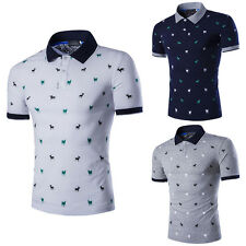 Mens Stylish Casual Slim Fit Short Sleeve Polo Shirt T-shirts Tee Shirt Tops New