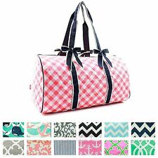 "21"" Quilted Duffle Bag Large Weekend Tote Overnight Carry On Gym Sports Shoulder"