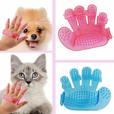hand Pet GROOMING Glove Massage Brush-Removes hair/Cats/Dogs/Pets Charity J