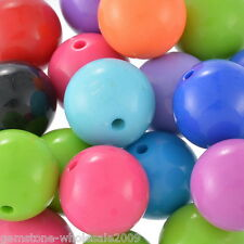 "Wholesale Lots Mixed Acrylic Ball Spacer Beads 20mm(6/8"") Dia."