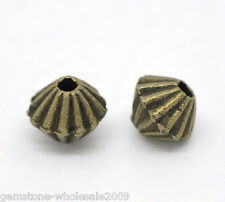 Wholesale Lots Bronze Tone Bicone Spacer Beads 5x4mm