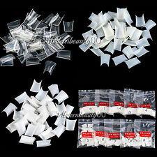 Hot 500pcs Acrylic French False Duck Toe Nail Art Tip White Clear Natural Choose