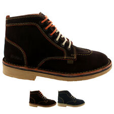 Mens Kickers Legendry Suede Laced Footwear Work Office Smart Shoes All Sizes
