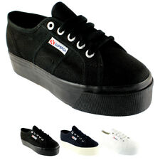 Ladies Superga 2790 Classic Canvas Plimsoll Pumps Laced Shoes Trainers All Sizes