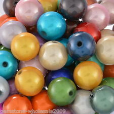 Wholesale Lots Mixed Miracle Acrylic Round Spacer Beads 10mm