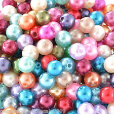 Wholesale Lots Mixed Pearl Imitation Round Beads 8mm Dia.