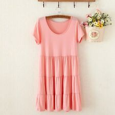 Summer Hot Pregnant Women Casual Cotton Short Sleeve Loose Maternity Cake Dress