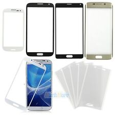 Front Screen Glass Lens Replacement for Samsung Galaxy Phone + OCA Glue Sticker