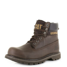 Mens Caterpillar Colorado Chocolate Leather Worker Ankle Boots Sz Size
