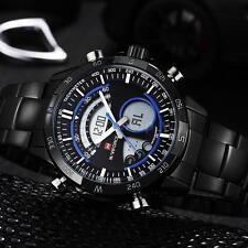 New Mens Military Sport Watch Waterproof Chronograph Date Dual Time Watches Z9K0