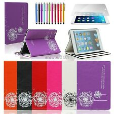 Lovely Dandelion Leather Flip Pouch Stand Case Cover For iPad 2 3 4 iPad Mini 1