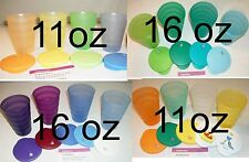 Tupperware Size & Color CHOICE 4 Impressions Cups Tumblers Drip-Less Straw Seals