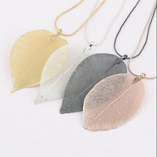 Fashion Women Sexy Jewelry Leaves Leaf Sweater Pendant Long Chain Necklace Gift